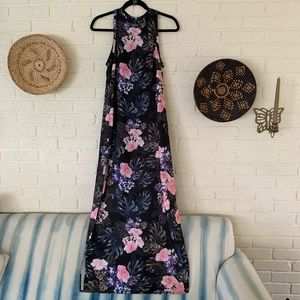 Double Split Floral Maxi Dress